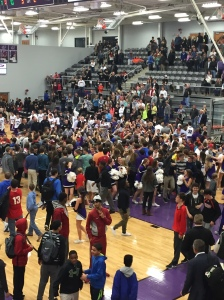 Bulldog Student Section Storm the Court